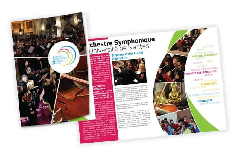 Flyer OSUN Orchestre Symphonique de l'Université de Nantes©ID Graphik